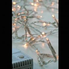 Χριστουγεννιάτικα led λαμπάκια 240 τεμαχίων θερμό λευκό σε σειρά με πρόγραμμα και διάφανο καλώδιο 1495cm στεγανά IP44