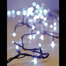 Χριστουγεννιάτικα led λαμπάκια 200 τεμαχίων ψυχρό λευκό σε σειρά με επέκταση και πράσινο καλώδιο 1315cm στεγανά IP44