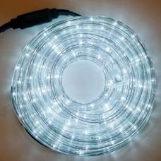 Φωτοσωλήνας led 10 μέτρα στρόγγυλος με 24 led λαμπάκια ανά μέτρο ψυχρό λευκό σε blister (έτοιμη συσκευασία) στεγανός IP44