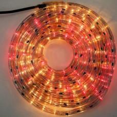 Φωτοσωλήνας 10 μέτρα στρόγγυλος με 36 λαμπάκια ανά μέτρο πολύχρωμα - χρωματιστά σε blister (έτοιμη συσκευασία) και πρόγραμμα στεγανός IP44