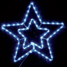 Χριστουγεννιάτικο αστέρι led διπλό ψυχρό λευκό με 3 μέτρα φωτοσωλήνα led 55 x 56cm με πρόγραμμα στεγανό IP44