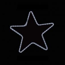 Χριστουγεννιάτικο αστέρι μονό λευκό φώς με 2 μέτρα φωτοσωλήνα 56 x 56cm στεγανό IP44