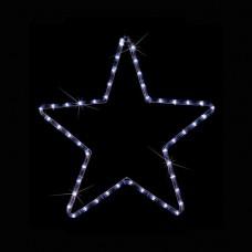 Χριστουγεννιάτικο αστέρι led μονό ψυχρό λευκό φώς με 1 μέτρο φωτοσωλήνα 32 x 29cm στεγανό IP44