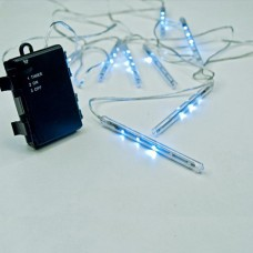 Χριστουγεννιάτικος μετεωρίτης μπαταρίας led με 8 snowdrop 10cm 80led διπλής όψεως 3,5 μέτρα στεγανός IP44