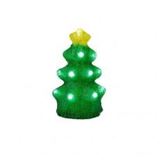 Χριστουγεννιάτικο διακοσμητικό δέντρο led ακρυλικό μπαταρίας 3D ύψος 16cm