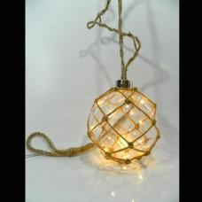Χριστουγεννιάτικος διακοσμητικός φωτισμός led με 1 μπάλα Φ10cm σε σχοινί μήκος 200cm με μετασχηματιστή και 10 led θερμά λευκά