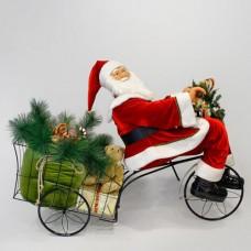 Χριστουγεννιάτικος Άγιος Βασίλης 150cm x 135cm σε τρίκυκλο με κίνηση και μουσική