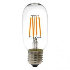 Λάμπα led filament edison σωληνωτή 4W Ε27 11cm 2700K θερμό λευκό φως T45 ευρείας δέσμης 360° 440lumen 230V