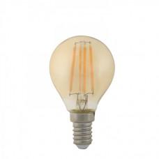 Λάμπα led filament edison σφαιρική (μπαλάκι) 4W ντιμαριζόμενη (dimmable) χρυσό γυαλί Ε14 2400K θερμό λευκό φως P45 ευρείας δέσμης 360° 360lumen 230V