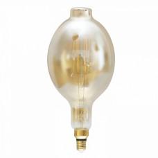 Λάμπα led filament edison giant (γίγας) 37cm επαγγελματική E27 BΤ180 8W ντιμαριζόμενη (dimmable) χρυσό (μελί) γυαλί 2400K θερμό λευκό φως ευρείας δέσμης 360° 690lumen 230V