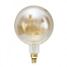 Λάμπα led filament edison giant (γίγας) 29cm επαγγελματική E27 G200 8W ντιμαριζόμενη (dimmable) χρυσό (μελί) γυαλί 2400K θερμό λευκό φως ευρείας δέσμης 360° 690lumen 230V