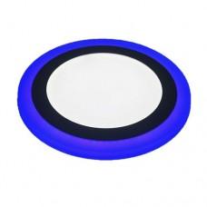 Φωτιστικό led panel 18w - 6w (24w - 24watt) ψυχρό λευκό - μπλέ φως με 3 επιλογές φωτισμού 24,5cm χωνευτό ψευδοροφής στρογγυλό στεφάνι 1900lumen