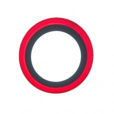 Φωτιστικό led panel 18w - 6w (24w - 24watt) ψυχρό λευκό - κόκκινο φως με 3 επιλογές φωτισμού 24,5cm χωνευτό ψευδοροφής στρογγυλό στεφάνι 1900lumen