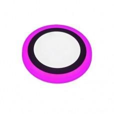 Φωτιστικό led panel 18w - 6w (24w - 24watt) ψυχρό λευκό - φουξ φως με 3 επιλογές φωτισμού 24,5cm χωνευτό ψευδοροφής στρογγυλό στεφάνι 1900lumen