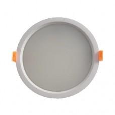Φωτιστικό led panel 35W χωνευτό ψευδοροφής στρογγυλό Φ23cm ενδιάμεσο φυσικό λευκό φως 4000Κ λευκό στεφάνι υψηλής φωτεινότητας 3000lumen