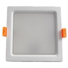 Φωτιστικό led panel 35W χωνευτό ψευδοροφής τετράγωνο 23x23cm ενδιάμεσο φυσικό λευκό φως 4000Κ λευκό στεφάνι υψηλής φωτεινότητας 3000lumen