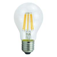 Λάμπα led filament edison κοινή αχλάδι 6W διάφανο γυαλί Ε27 ψυχρό λευκό φως 6500K A60 ευρείας δέσμης 360° 806lumen 230V