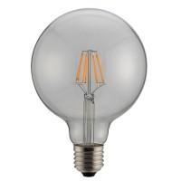 Λάμπα led filament edison γλόμπος (globe) Φ125 8W ντιμαριζόμενη (dimmable) διάφανο γυαλί Ε27 6500K ψυχρό λευκό φως ευρείας δέσμης 360° 980lumen 230V