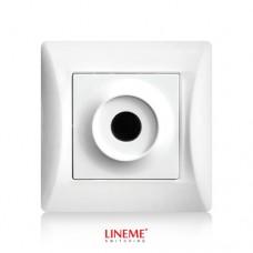 Πλάκα εξόδου καλωδίων με οπή τρύπα λευκό χρώμα σειρά lineme