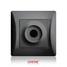 Πλάκα εξόδου καλωδίων με οπή τρύπα μαύρο γραφίτης χρώμα σειρά lineme