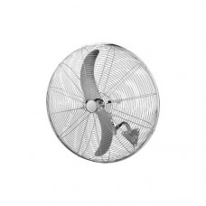 Ανεμιστήρας τοίχου ασημί μεταλλικός επαγγελματικός βιομηχανικός Φ71cm 180W με τηλεχειριστήριο (τηλεκοντρόλ) 2 φτερωτές και 3 ταχύτητες