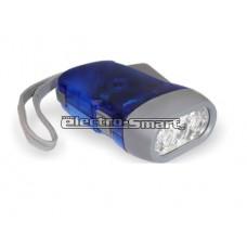 ΦΑΚΟΣ ΜΑΝΙΑΤΟ (ΔΥΝΑΜΟ) ΧΩΡΙΣ ΜΠΑΤΑΡΙΕΣ 3 LED 10 cm HSD-10