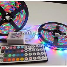 LED ΤΑΙΝΙΑ 12VDC 14,4W/m LED5050 ΜΗ ΑΔΙΑΒΡΟΧH (ΑΠΛH) IP20 ΕΥΚΑΜΠΤΗ ΑΥΤΟΚΟΛΛΗΤΗ  RGB (ΕΝΑΛΛΑΓΗ ΧΡΩΜΑΤΩΝ)