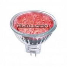 ΛAMΠA LED BULBS MR16 (ΣΠΟΤ) 1.5W  240V ΚΟΚΚΙΝΟ (RED) ΦΩΣ