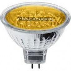 ΛAMΠA LED BULBS MR16 (ΣΠΟΤ) 1.5W  240V ΚΙΤΡΙΝΟ (YELLOW) ΦΩΣ